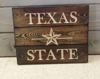 Carved Texas State University Pallet Sign FREE SHIPPING in tge USA