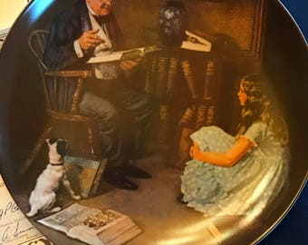 1990 - Knowles - Rockwell Collectible Plate - THE YOUNG SCHOLAR - #14417C