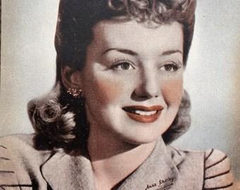 Ann Shirley  Vintage Sepia 5x7 Photographic Print