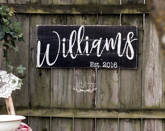 Free shipping, name sign, personalized gift, last name sign, last name established sign, last name, last name sign wood, custom wood signs