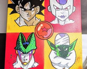 Dragonball Z Artist Painting / Geek Gift