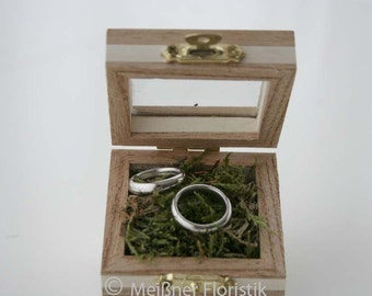 Ring cushion / ring box / ring box / wood box