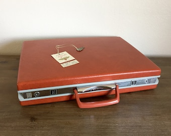 Vintage Samsonite Briefcase with Key; Samsonite Attaché Case; Vintage Men's Briefcase; Samsonite Briefcase