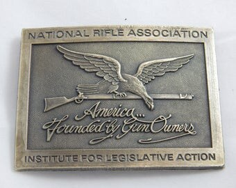 Vintage NRA Belt Buckle