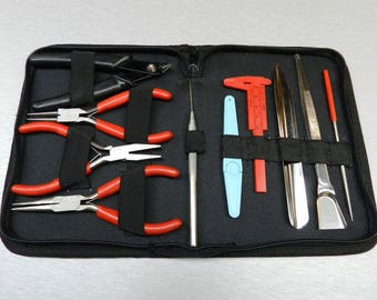 Beading Tool Kit 10 Pc Set Tools For Beaders Jewelry Making Jewelers Hand Tools (1.3 FRE)