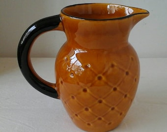 French pitcher / vintage 1970's ceramic /pichet