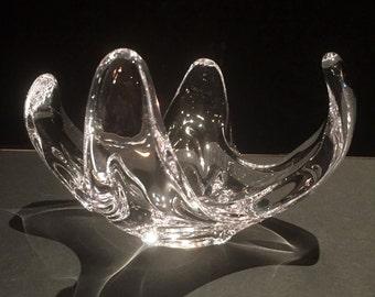 Vintage (1960's) COFRAC Art Glass Bowl Signed