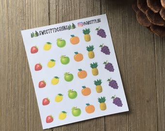 Fruit Planner Stickers