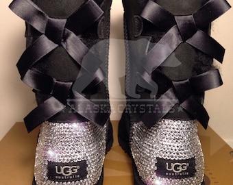 Bailey bow UGG® With Swarovski Crystals, Customised UGG®, Bespoke Uggs, Rhinestone Uggs, Bling Uggs, Crystal Uggs, Embellished uggs