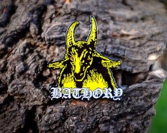 Bathory Yellow Enamel Pin