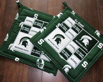 Michigan State Potolders (set of 2)