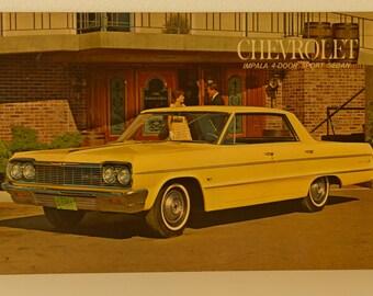 Vintage Old Original advertisement board   Chevrolet    Impala 4-door Sport Sedan