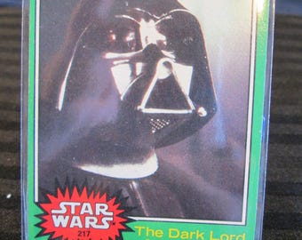 """Vintage 1977 Star Wars Trading Card #217 """"The Dark Lord of the Sith"""" Free Shipping."""