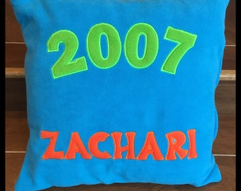 Personalised AGE YEAR cushions pillows, gift for a boy teenager, any colour Personalized Customised Birthday Gift Idea Teen Gift Male Man