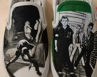 Vans The Cure, handpainted custom shoes! by The Noir Desire