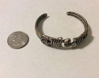 Vintage  sterling silver skeleton bangle bracelet badr