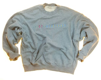 Vintage United Colors of Benetton Sweatshirt Activewear Hip Hop Gray M 90s
