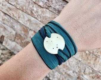 Aries Constellation Bracelet, Silk Wrap Bracelet, Constellation Jewelry, Zodiac Bracelet, Wrap Bracelet, Birthday Gift