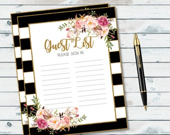 Guest List | Etsy  Guest List Sample