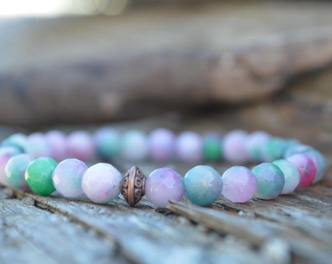 Jade gemstone bracelet - heart chakra bracelet ♥