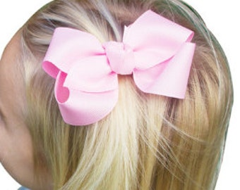 "Girl's Classic 3"" Grosgrain Ribbon Alligator Hair Clip Bow - your choice of color"
