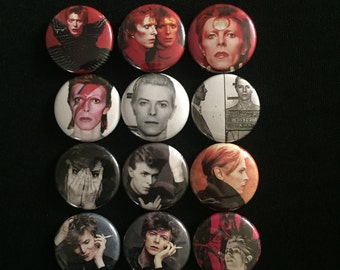 "Handmade David Bowie  1"" Button Lapel Pin"