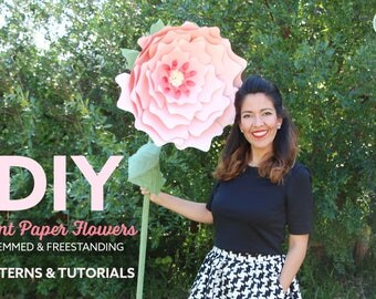 Giant Paper Flowers - Stemmed and Freestanding - Patterns & Video Tutorials