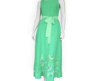 green formal dress etsy
