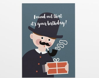 Sherlock Holmes birthday card