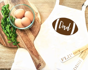Dad Football Apron - Sports Apron - Cooking Apron - Baking Apron - Apron for him - Father's Day Apron - Gift for Dad - Custom Apron