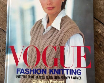Vogue patterns, knitting patterns, 1980s fashion, 80s style, 1980s clothes, dressmaking, 1920s fashion, jumpers, cardigans, knitwear, arran