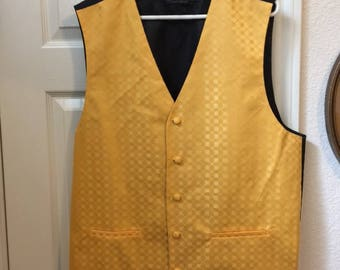 Gentleman's vest, Golden yellow, Size XL.