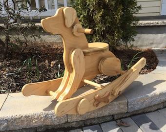 Wooden Rocking Dog // il Cane // Handmade Artisan Rocking Dog
