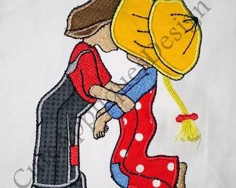 Boy & Girl Kissing Each Other Design No 1155