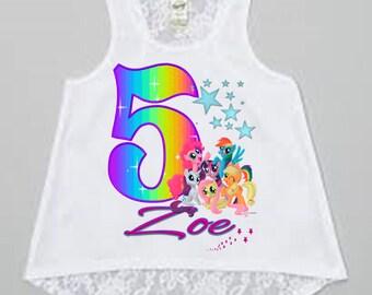 My Little Pony Birthday Shirt or My Little Pony Dress