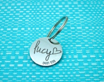 Personalised Dog Tag, Custom Dog Tag, Dog ID Tag, Puppy Tag, Personalized Dog Tag, Rescue Dog, Engraved Dog Tag, Dog Collar Tag, Pet Tag