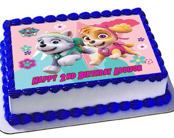 Skye Everest Paw Patrol Cake Topper, Skye Everest Birthday, Paw Patrol Birthday. Edible Images, Frosting Sheet