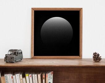 Moon illustration. 30x30 signed by designer giclée print