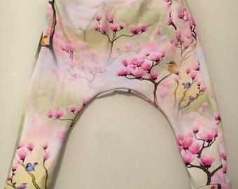 Harem baby pants leggings in organic cotton