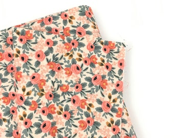 Rifle floral baby crib sheet, floral bedding, baby girl Bedding, floral nursery, Rifle company, blush, coral, floral bunches, girl nursery