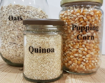 Pantry Labels x 15. Jar Labels. Rice and Grains. Kitchen Labels. Removable Repostionable Labels. FREE UK Shipping