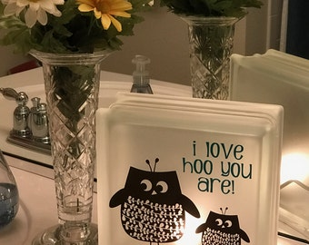 OWL LIGHTED BLOCK, Hoot Owl, Night Light, Love Hoo You Are, Owl Always Love Hoo