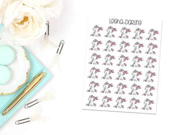 Chore Unicorn Planner Stickers