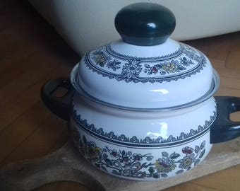 Small Enamel Pot Silit made in Germany 70's