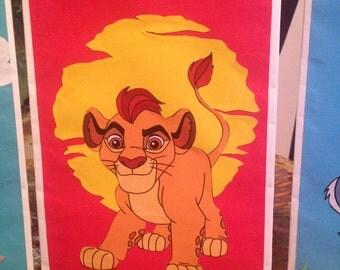 lion guard goodie bags.lion guard party bags.lion guard favor bags. set of10