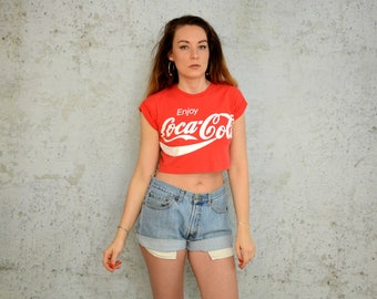 "Denim shorts Levis High waisted Vintage Cutoffs jean woman cut off hotpants 1990's L Large size 32""waist"