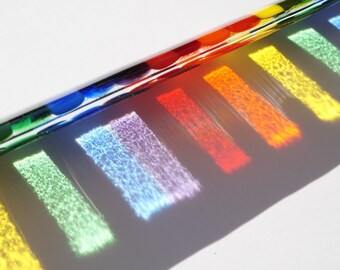 Rainbow fused glass suncatcher, rainbow sun catcher, rainbow glass art, gay pride decor, garden decoration, rainbow glass, pride rainbow