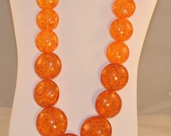 Large Amber Discs Necklace