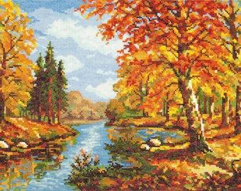 Cross Stitch Kit Golden autumn