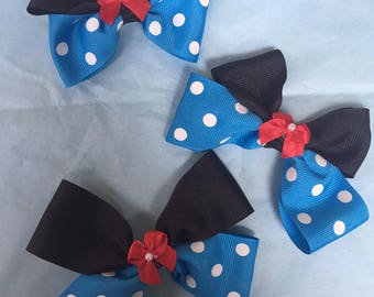 Vintage Minnie Mouse hairbow set